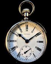 Waltham Vanguard 18s 21Jewel Railroad Fancy Silver Pocket watch  Fine