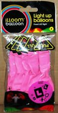 Pack of 5 Balloon Pink illoom Light Up Balloons Birth Day Celebration Party