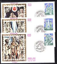 MONACO   enveloppe 1er jour  noel  nativité     1982