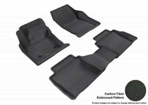 3D MAXpider 2013-2016 Fits Lincoln MKZ 1st Row 2nd Row Floor Mat Black