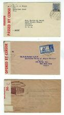 Three India WWII Censored KGV or KGVI 3a6p Covers to United States, Advertising