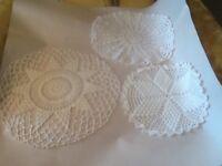 Vintage Crochet Doilies Lot Of 3