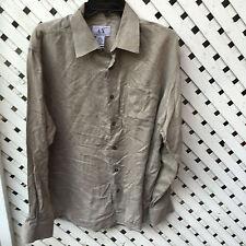 Armani Exchange Button Front Shirt Men's Large Cotton / Viscose