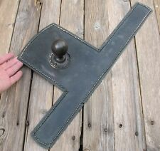 Antique Reclaimed Large Finger Plate Door Knob / Brass / Bronze / Copper