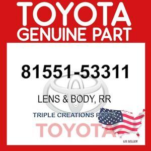 GENUINE Toyota 81551-53311 LENS & BODYRR 8155153311 OEM