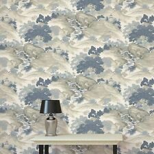 CARCHIVES ORIENTAL LANDSCAPE WALLPAPER CHINA BLUE - CROWN M1190 NEW