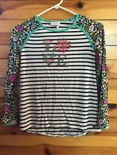 Matilda Jane Love Raglan Top 435 Girls EUC Striped & Floral Shirt Size 10