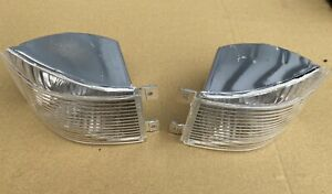 Lancia Delta integrale Evo Front Indicator Lamps Clear White Pair