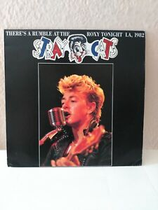 STRAY CATS / BRIAN SETZER  LP. THERE'S A RUMBLE AT THE ROXY TONIGHT 1982.