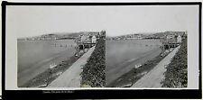 CANNES La Plage, Photo Ferrier & Soulier, Plaque stereo positive ca 1865