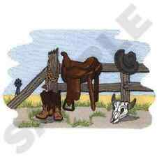 SOUTHWEST WESTERN SCENE  SET OF 2 BATH HAND TOWELS EMBROIDERED BY LAURA