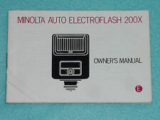 Manual de instrucciones-operating instructions-Minolta electroflash 200 x inglés