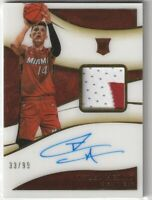 2019-20 Panini Immaculate Tyler Herro Rookie Patch Autograph Acetate 33/99 Rc