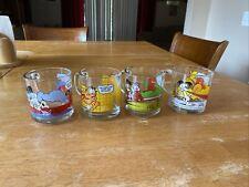 Vintage 1978 McDonalds Garfield Glass Coffee Mug Complete Set of 4 Glasses Davis
