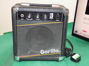 GORILLA GG-20 Amp Bass Electric Guitar Amplifier Practice 1987 Black 30W Input