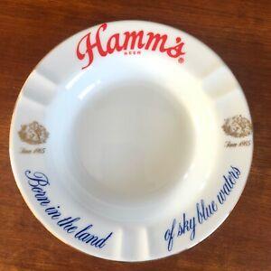 "Vintage Hamm's Beer Ashtray 6.75"" diameter w/ Hamm's Bottle Opener"
