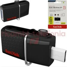 pendrive SanDisk Ultra Dual 32GB nero chiavetta USB 3.0 memory stick penna flash