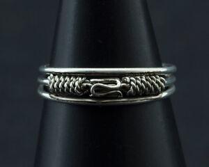 Ring Fuß Pl D' Zeh Ethnika Ekta Einstellbar aus Metall Weiß W89 8029