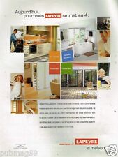 Publicité advertising 2002 Menuiserie magasin Lapeyre