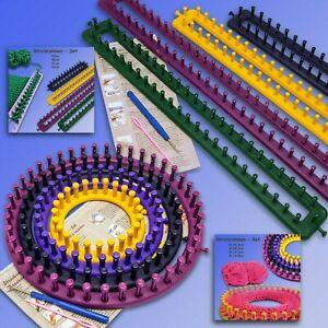 Strickrahmen Set, Stickring, Knitting Loom rund o. eckig, Anleitung Nadel Haken