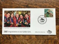 Gb Fdc 2002 LADIES CURLING TEAM , GOLDEN GIRLS , 2002 Olympic Gold Winners