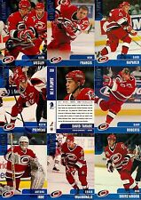 1999-00 BAP Be A Player Memorabilia Carolina Hurricanes Complete Team Set (12)