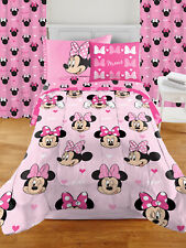 Minnie Mouse Design Room in a Box Set 7-pcs Includes Bedding Set And Drapes