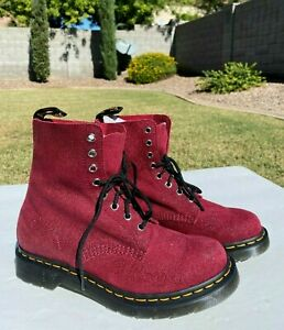 Dr Martens 1460 Pascal Stingray Boots US 9 Cherry Glitter Ray 8 Eye NEW $150