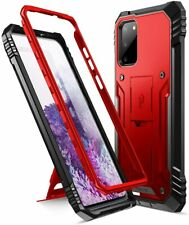 Galaxy S20 Shockproof kickstand Case,Poetic Dual-Layer Cover Metallic Red
