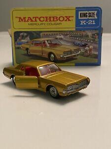 Matchbox Lesney King Size K-21 Mercury Cougar Vintage 1:43 Diecast