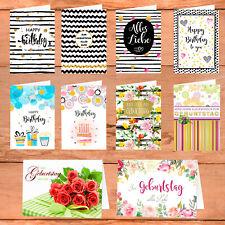 Premium Geburtstagskarten Set Grußkarten Geburtstag Glückwunschkarten