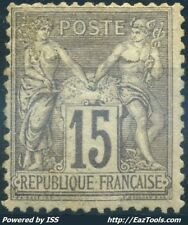 FRANCE TYPE SAGE N° 77 NEUF * AVEC CHARNIERE COTE 1000€ A VOIR