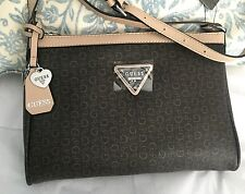 "Guess handbag Crossbody Shoulder Bag 8""X11"" Brown 100% Authentic NEW$135"