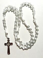 Rosary - GLASS Prayer Beads rosary  - Crucifix Necklace