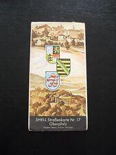 alte SHELL Straßenkarte Nr.17 Oberpfalz 30er Jahren Regensburg Pilsen Plauen