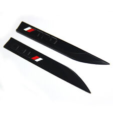 2x OEM TRD Emblems for Badge 3D Knife Type Toyota Yaris Camry Corolla F1 Red