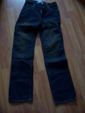 Black two tone cotton denim easy fit jeans from Gap, 16