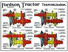 Fordson Major Tractor Transmission Cutaway Diagram Brochure Poster Advert A3