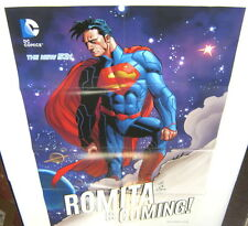 Superman John Romita Is Coming!Large Promo Poster NEW DC COMICS 2014 THE NEW 52