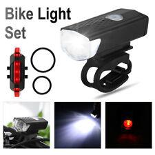 LED Fahrradbeleuchtung Fahrradlicht Set USB Fahrad Scheinwerfer Rücklicht Lampe