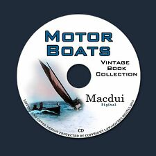 Motor Boats Vintage Books Collection 14 PDF E-Books on 1 CD Navigation,Sea,Boat
