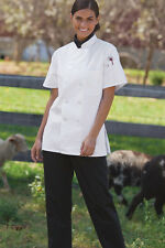 Women's Chef coat Short Sleeve 0478 Sizes Xs to 3Xl White Free Shipping