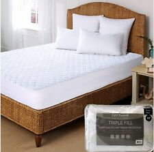 Luxury Deep Quilted Mattress Bed Protector Topper Fitted Cover Double & Pillow
