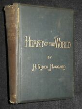 Henry Rider Haggard; Heart of the World  - 1896-1st - Adventure Novel, Fiction