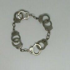 hand cuff Silver Alloy Handcuff Bracelet silver chain