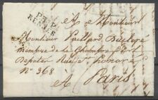 1819 Lettre en port payé P34P RENNES ILLE et VILAINE(34) F146