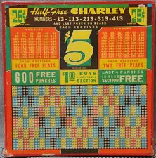 Large collection 100+ Charley Punchboards most different and unused see 'em all