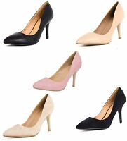 Womens Stiletto High Heels Pointy Toe Ladies Smart Work Office Shoes Party 3-8