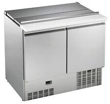Nouveau deux porte réfrigérateur/réfrigérés saladette Pizza Prep compteur