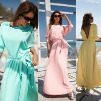 Women Long Prom Lace Maxi Dresses Bridesmaid Formal Evening Cocktail Party Dress